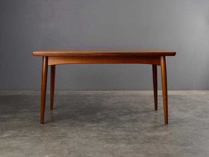 Mid Century Teak Dining Table Danish Modern Gudme by MadsenModern