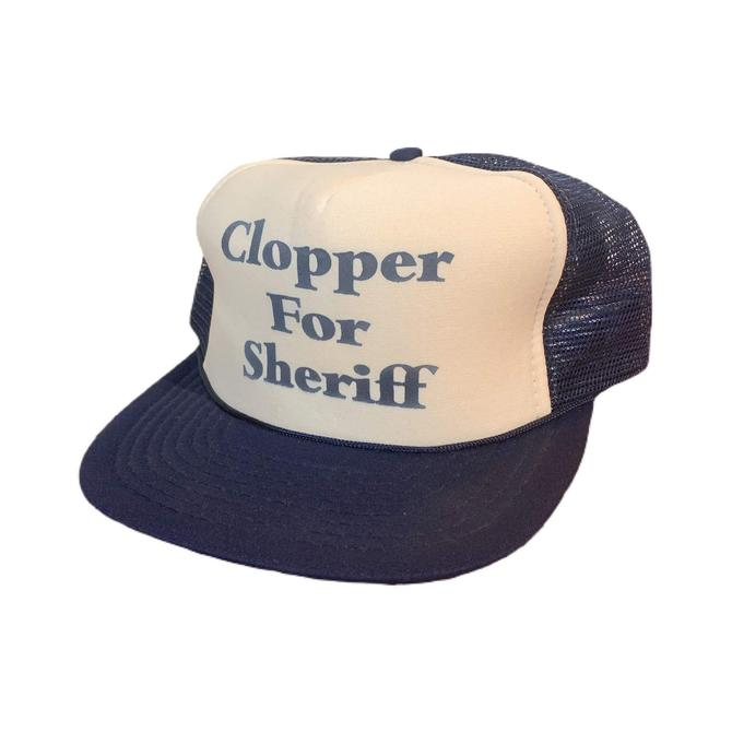 Vintage 80s Clopper For Sheriff Trucker Hat Snapback by OverTheYearsFinds