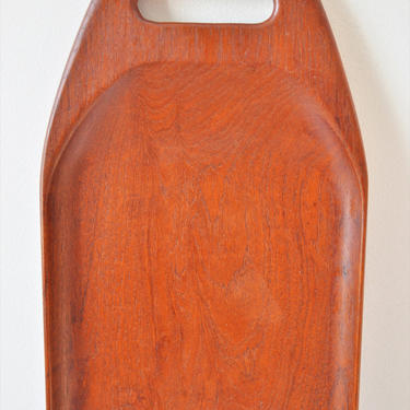 """Large Vintage Danish Modern Teak Tray with Carved Handles by Digsmed of Denmark, 26"""" by SourcedModern"""