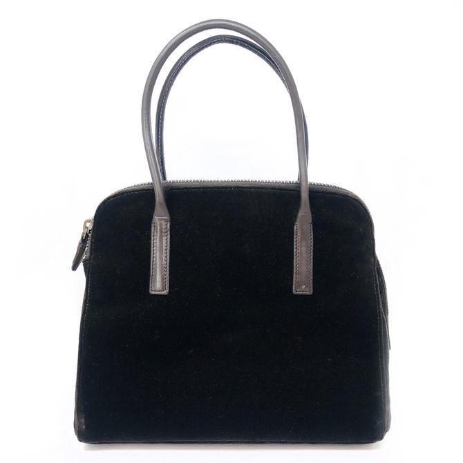 Prada Brown Velvet Handbag