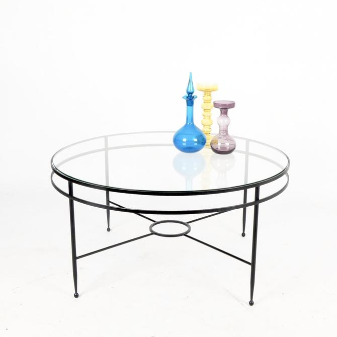 Wrought Iron Frame Coffee Table