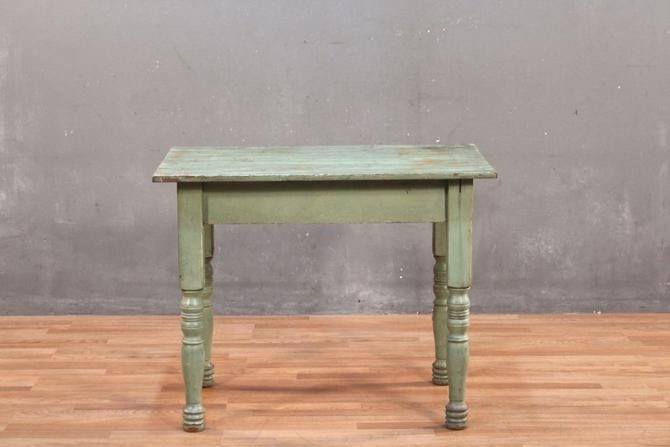 Rustic Patina Green Farm Table – ONLINE ONLY