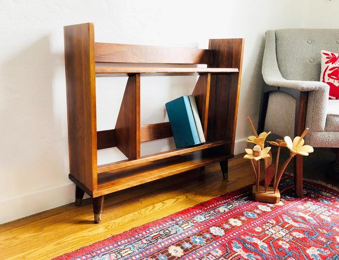 Mid Century Small Walnut Bookshelf by SergeantSailor