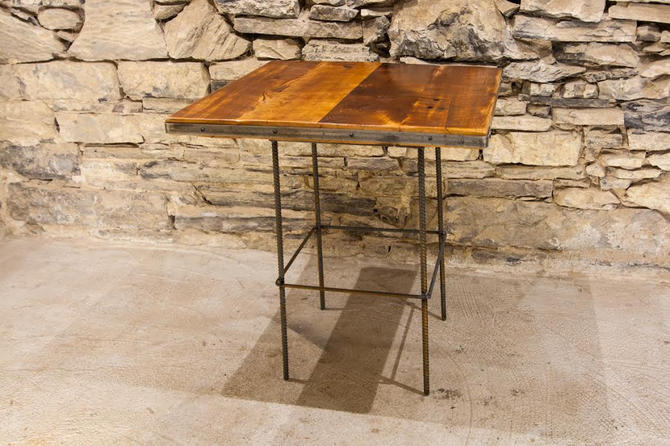 Reclaimed Wood Restaurant Table Tops, 24x24, rustic dining table top with industrial metal trim by BarnWoodFurniture