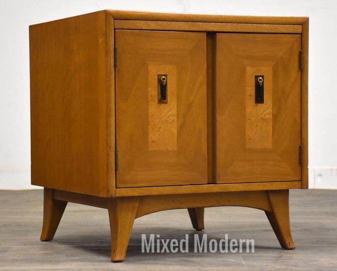 Mid Century Modern Walnut Nightstand by mixedmodern1