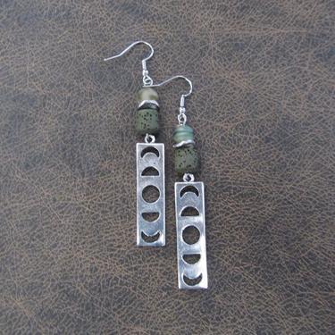 Bohemian earrings, bold statement earrings, unique modern earrings, celestial earrings, lava rock earrings, exotic hippie earrings 10 by Afrocasian