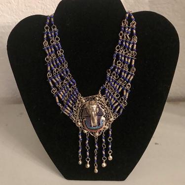 Vintage Egyptian Revival Choker Necklace king Tut by DeborahsAntiques