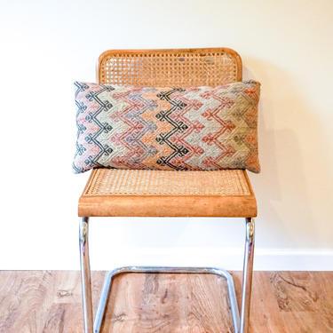 Vintage Bohemian Rectangular Kilim Lumbar Pillow by PortlandRevibe