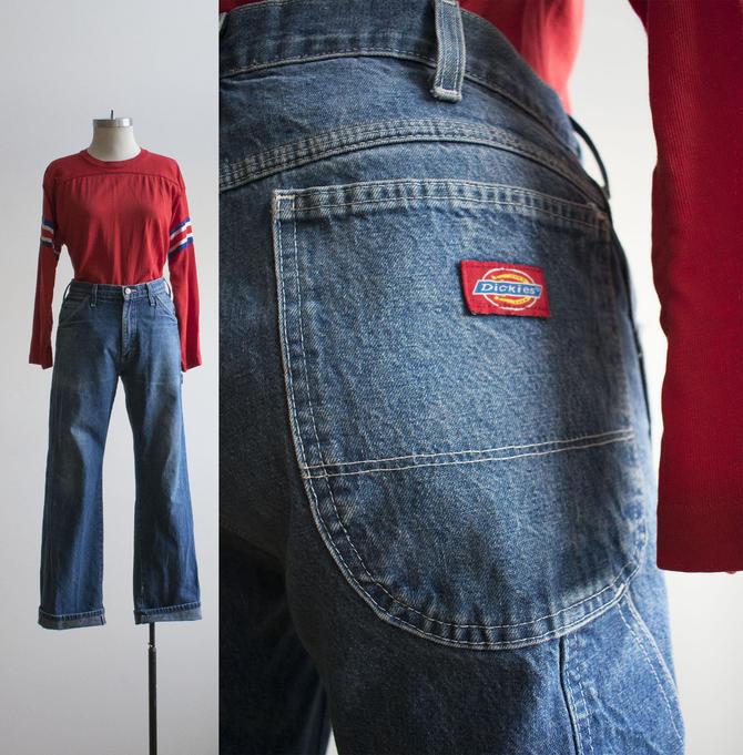 Vintage Dickies Carpenter Pants / Broken In Denim Carpenter Pants / Vintage Workwear / Dickies Denim Carpenter Pants / Workwear 30 x 30 by milkandice