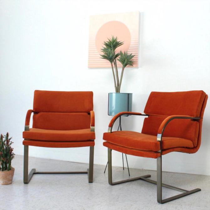 Satin Brass Bruno Chairs