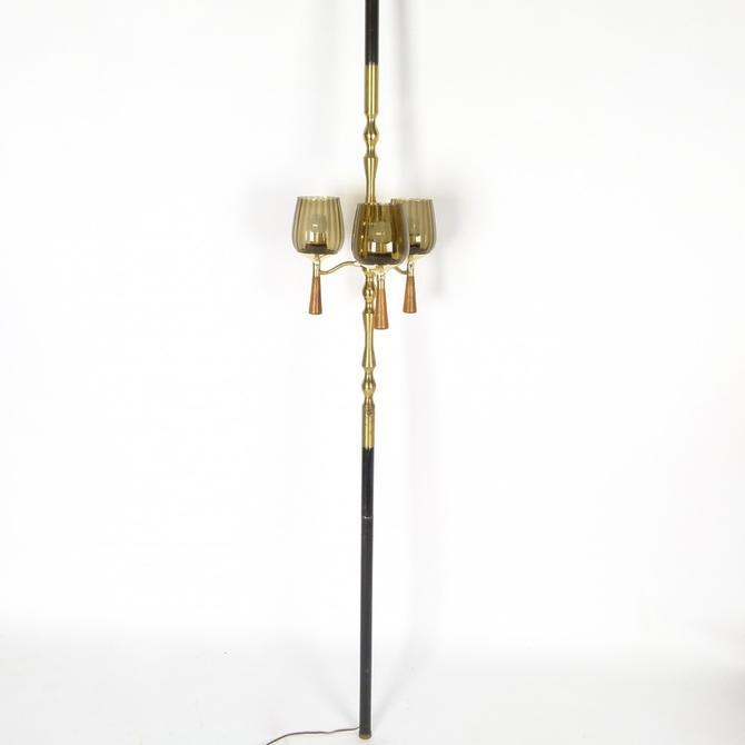 Three Light Tension Pole Lamp