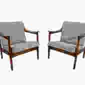 Teak Lounge Chairs Westnofa Danish Modern by HearthsideHome