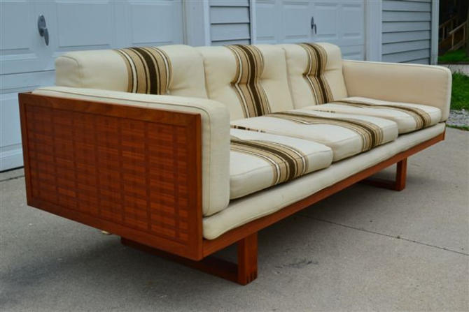 Poul Cadovius for France and Son Danish Teak Mid Century Modern 3 Seat Box Sofa - mcm by ModernHill