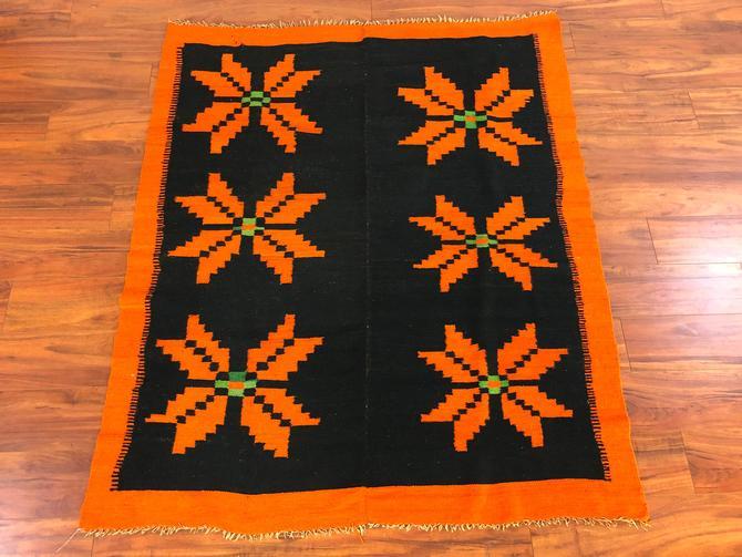 Peruvian Wool Vintage Frazada Blanket by Vintagefurnitureetc