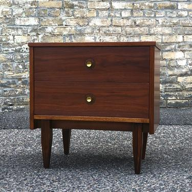 2-drawer Walnut Nightstand
