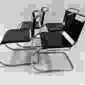 Knoll MR10 Modern Dining Chairs by Mies van der Rohe Bauhaus School Set of 4