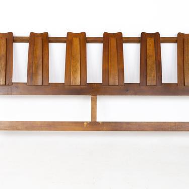 Kroehler Brutalist Mid Century Walnut King Headboard - mcm by ModernHill