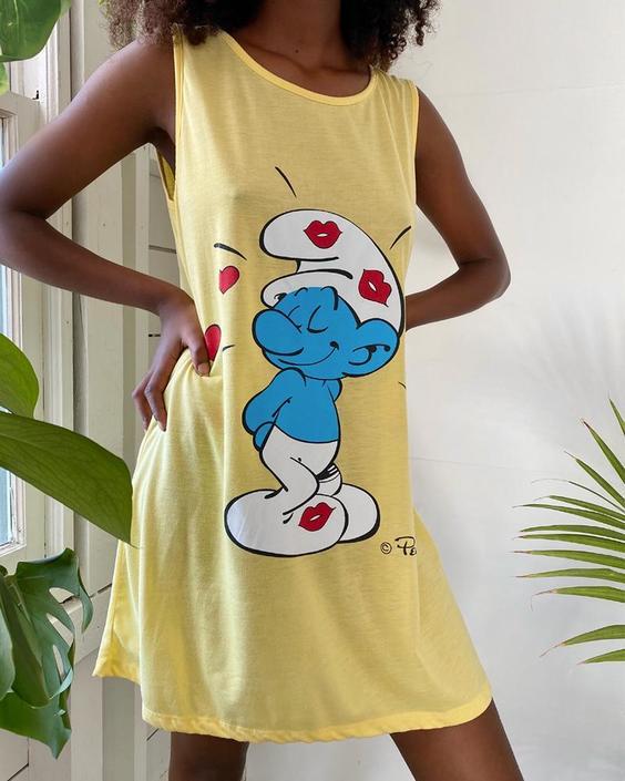80s Smurfs T-Shirt Dress