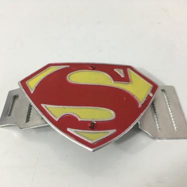 Vintage Superman Belt Buckle Aluminum Comic Book Super Hero 1950s 1956 National Comics Publications Kellogg's Cornflakes Mail Prize by CheckEngineVintage