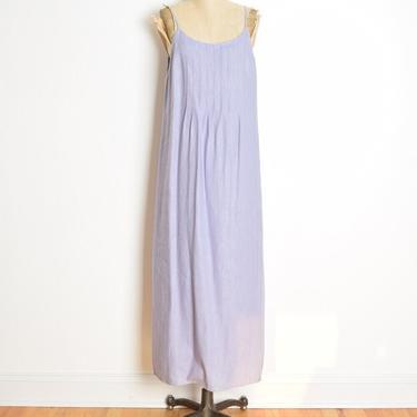 vintage 90s dress lavender linen long maxi sun dress simple basic M L clothing by huncamuncavintage