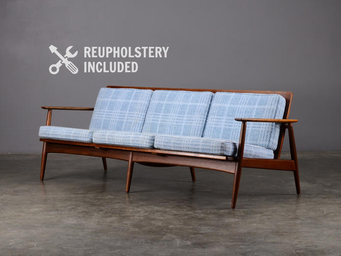 Mid Century Sofa Teak Danish Modern Couch by MadsenModern