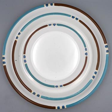 Mesa White Sand, Dansk Dinner Plate, Salad Plate, or Chop Plate | Vintage Southwestern Stoneware Dinnerware by MostlyMidCenturySF