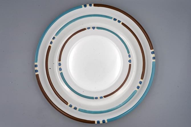 Mesa White Sand, Dansk Dinner Plate, Salad Plate, or Chop Plate   Vintage Southwestern Stoneware Dinnerware by MostlyMidCenturySF