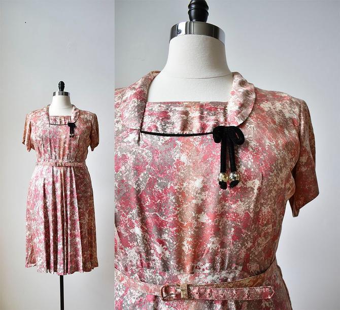 1940s Cocktail Dress 1940s Dress Large 40s Dress Full Skirt