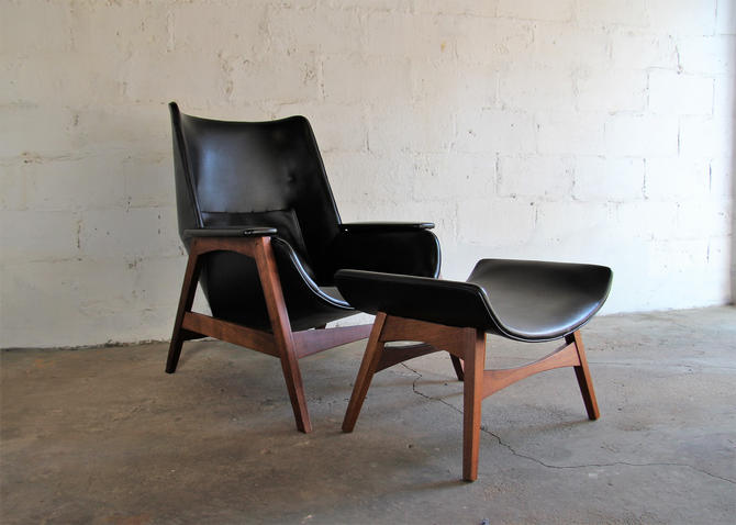 mid century modern lounge chair and ottoman by foster mcdavid s 2 by