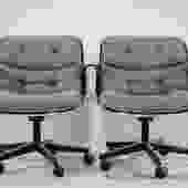 Pair of George Pollock for Knoll Executive Chairs