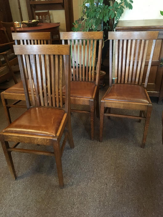 Circa 1910 Set of Four Mission Dining Chairs