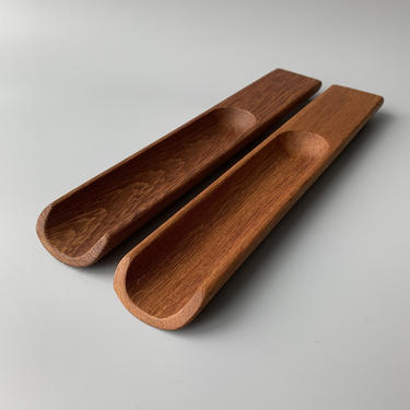 Pair of Dansk Jens Quistgaard IHQ Teak Salad Servers made in Malaysia by HomeAnthology