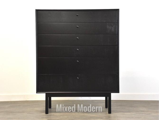Black Lacquer Mid Century Dresser by mixedmodern1
