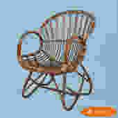 Albini Style Rattan Lounge Chair