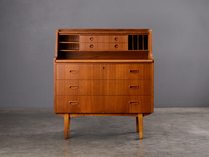 Mid-Century Secretary Desk Teak Danish Modern by MadsenModern