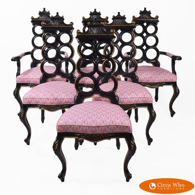 Set of 6 Pagoda Chairs