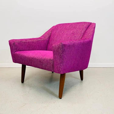 mid century Danish modern textured lounge chair attributed to G. Thams of Denmark by AtomicJunkiesGallery