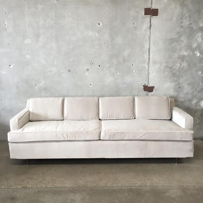 Mid Century Modern Sofa with New Mohair Upholstery