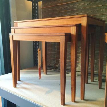 Set of 3 Midcentury Modern Teak Nesting Tabled