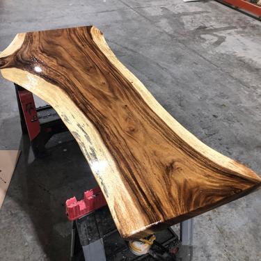 Live Edge Walnut Wood Desk -  Walnut Dining Table by UmbuzoRustic