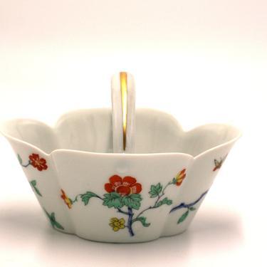 vintage haviland limoges porcelain floral basket/made in france by suesuegonzalas