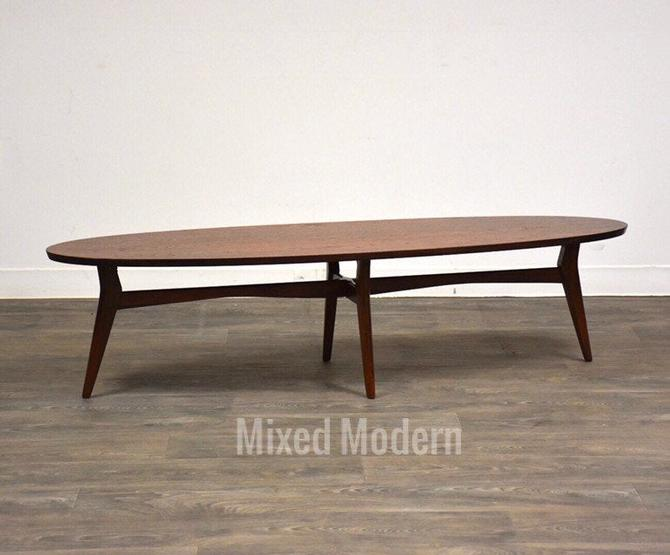 Mersman Surfboard Walnut Coffee Table by mixedmodern1