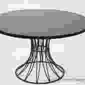 Mid Century Metal Wire Base Dining Table