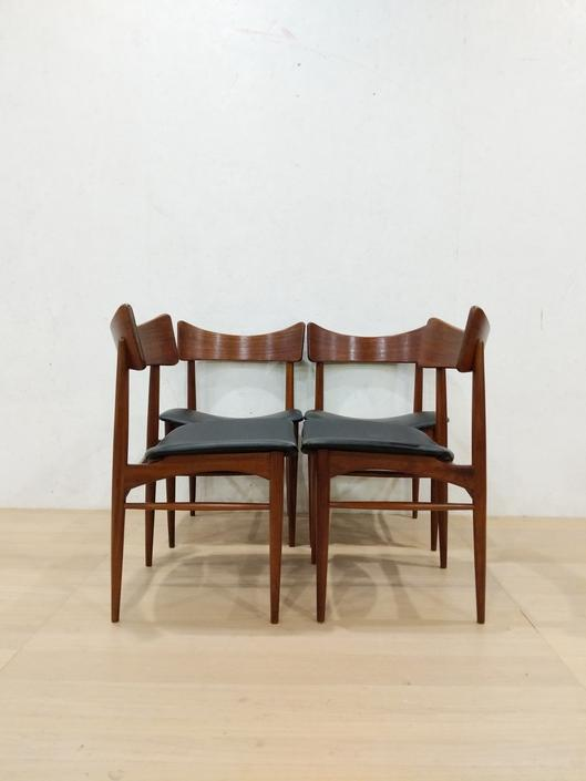 Set of 4 Vintage Danish Modern Dining Chairs by FarOutFindsNYC