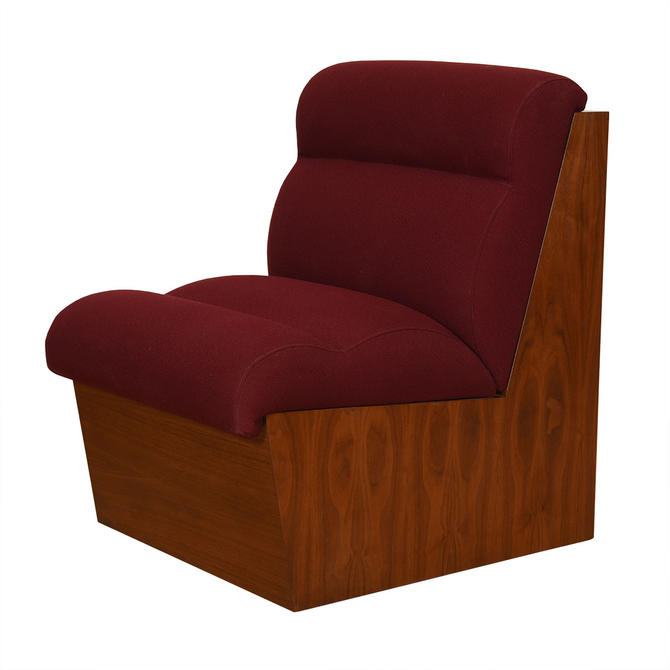 Modernist Walnut Occasional Chair