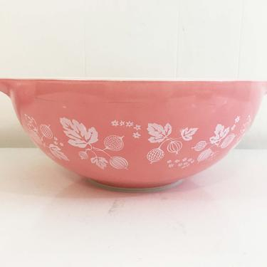 Vintage Pyrex Pink Gooseberry Cinderella Bowl Dish 474 Milk Glass Mid-Century Retro Oven USA Ovenware Mixing Baking Cooking by CheckEngineVintage