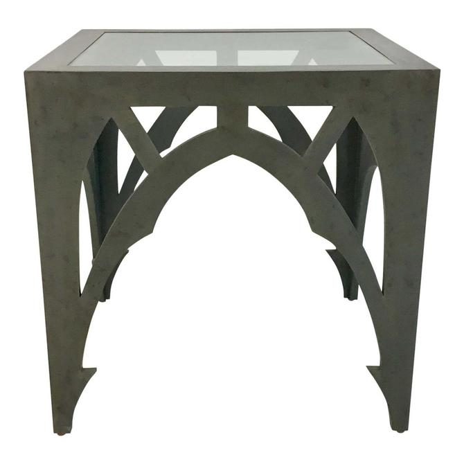Currey & Co. Gray Esteban Side Table