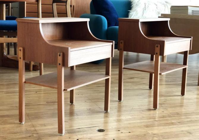 Pair of Swedish Teak Bedside Tables