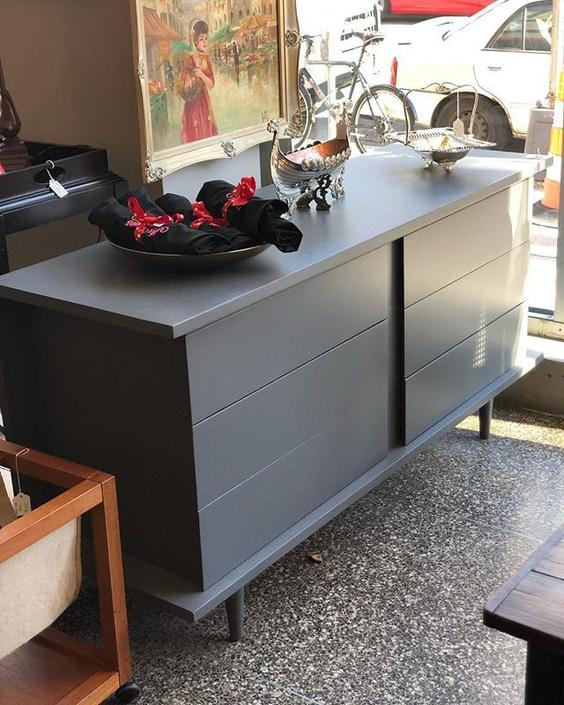 Grey MCM dresser $550