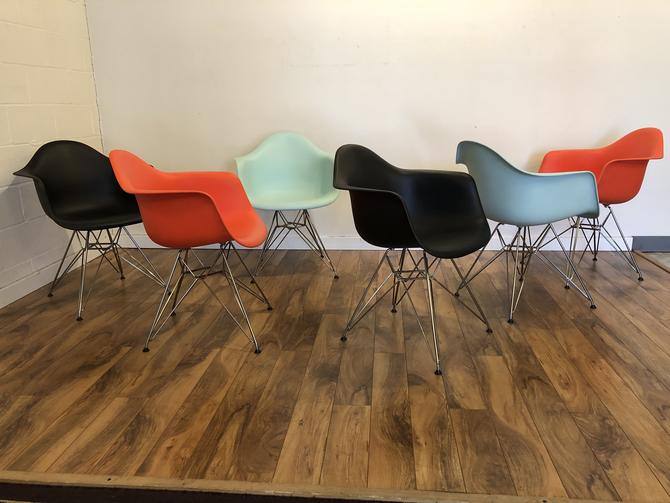 Eames DAR Molded Plastic Chairs